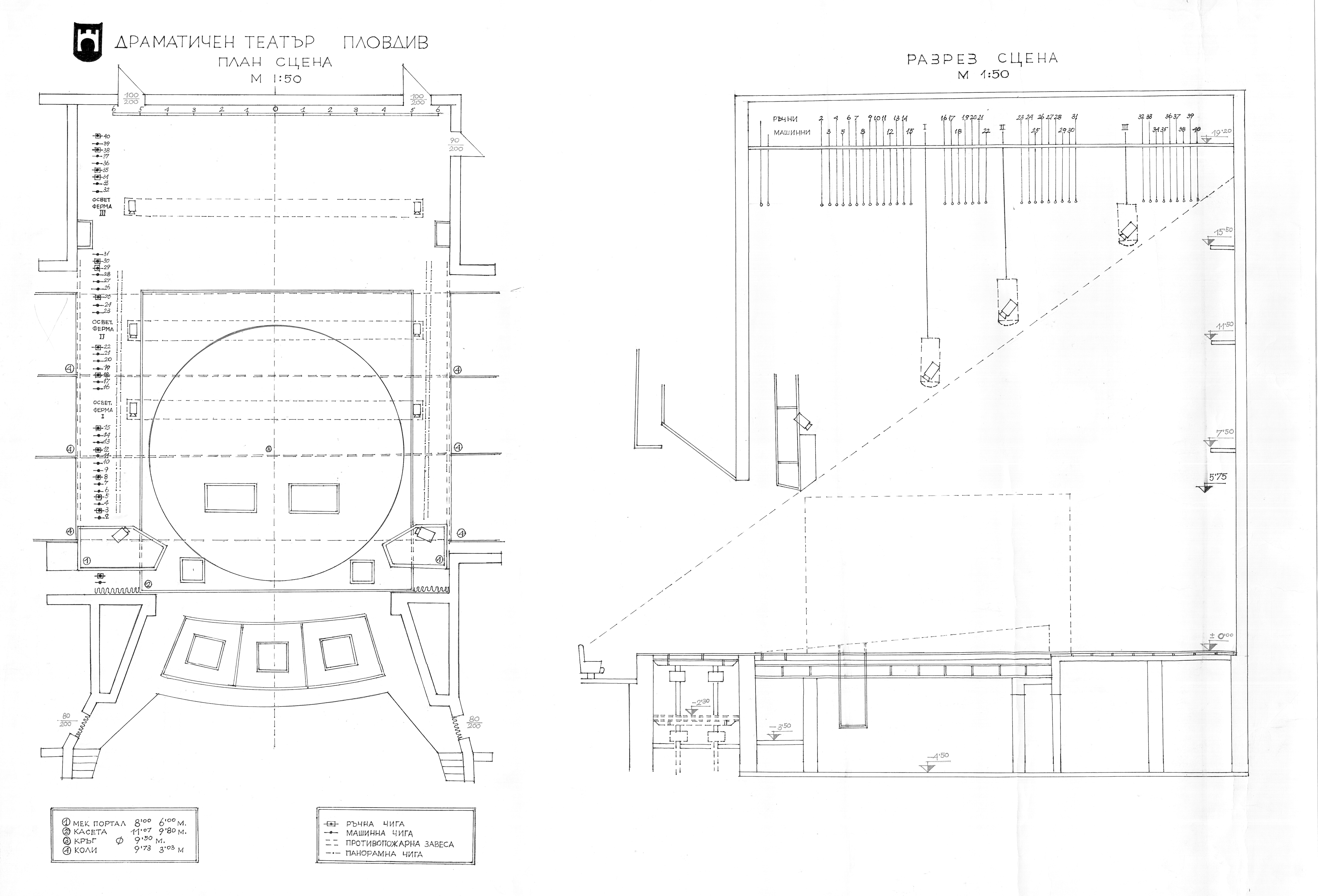 Main Stage Plovdiv Drama Theater Theatre Lighting Diagram Floor Plan